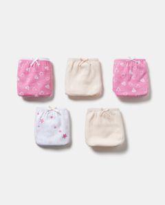 Dívčí spodní kalhotky, 5-pack