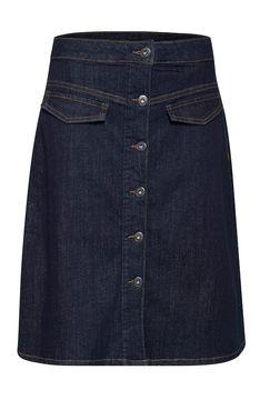Áčková sukně s knoflíky Olive