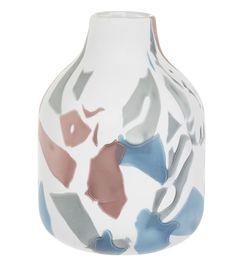 Ručně vyráběná skleněná váza, 24 cm