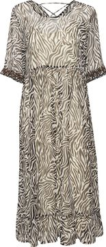 Zebrované midi šaty Leonie