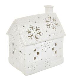 Porcelánový LED domeček, 17 cm