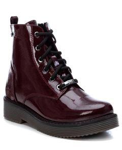 Dámské lakované kotníkové boty