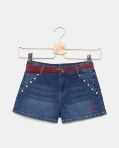 Dívčí džínové šortky s páskem