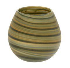 Skleněná ručně vyráběná váza, 17 cm
