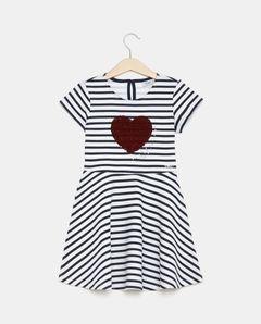 Pruhované dívčí šaty s flitry