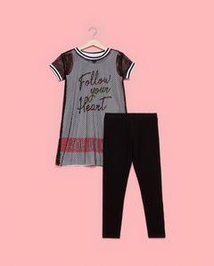 Dívčí souprava, legíny + síťované tričko