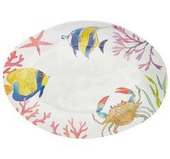 Melaminový talíř mořské ryby, 48 cm