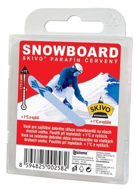 Skivo Parafín Snowboard červený