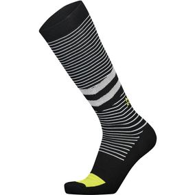 Mons Royale Lift Access Sock black/white stripe/citrus