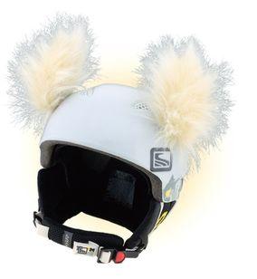 Crazy Uši na helmu yeti béžová