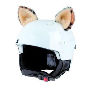 Crazy Uši na helmu rys sz béžovo-černá