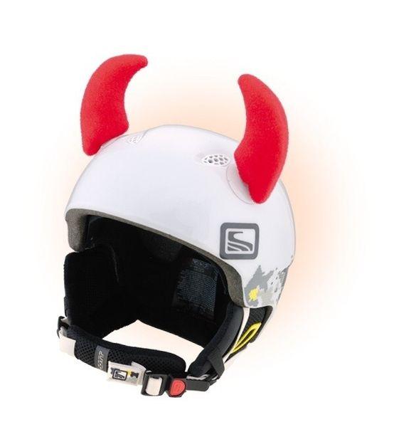Crazy Uši na helmu rohy červené velké červená