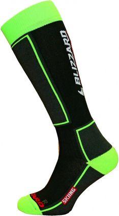 Blizzard Skiing Ski Socks black/green pánské/unisex