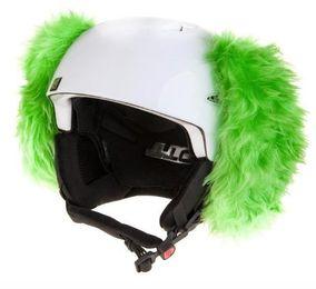 Crazy Uši na helmu pes zelený zelená