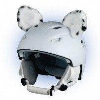 Crazy Uši na helmu levhart sněžný sz bílo-černá