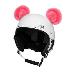 Crazy Uši na helmu medvídek růžový sz