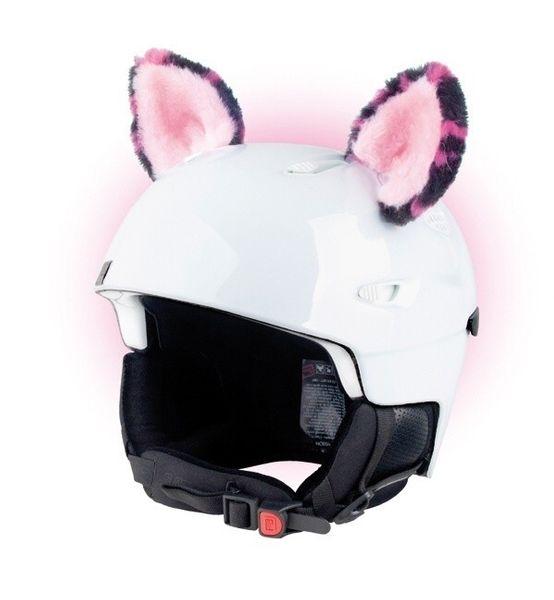 Crazy Uši na helmu kočka růžová sz