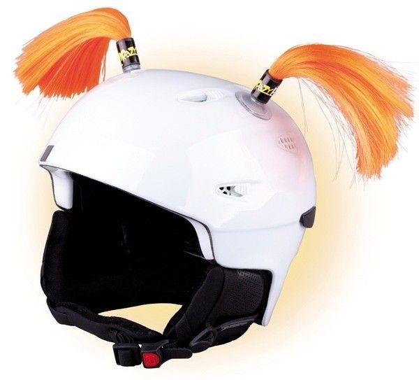 Crazy Uši na helmu culíky oranžové