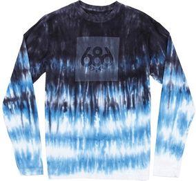 686 triko TIE-DYE L/S T-SHIRT cobalt