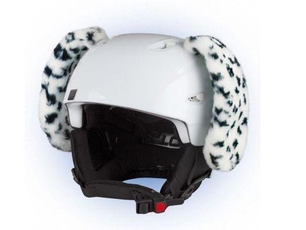 Crazy Uši na helmu dalmatin černo-bílá