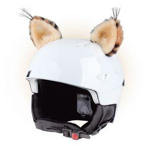Crazy Uši na helmu rys béžovo-černá