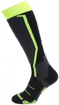 Blizzard Allround Ski Socks JR black/anthracite/signal yellow