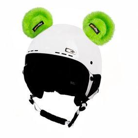 Crazy Uši na helmu medvídek zelený sz