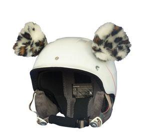 Crazy Uši na helmu gepard velký bílo-hnědá