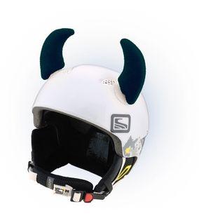 Crazy Uši na helmu rohy černé velké černá