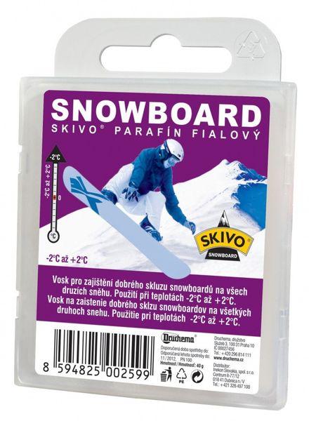 Skivo Parafín Snowboard fialový