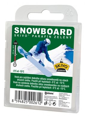 Skivo Parafín Snowboard zelený