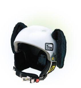 Crazy Uši na helmu pes černý černá