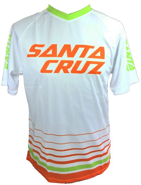 SANTA CRUZ dres STRIPED TRAIL JERSEY white