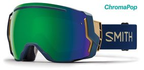 Smith I/O 7 navy camo split sun green mirror