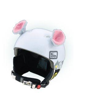 Crazy Uši na helmu myška šedá