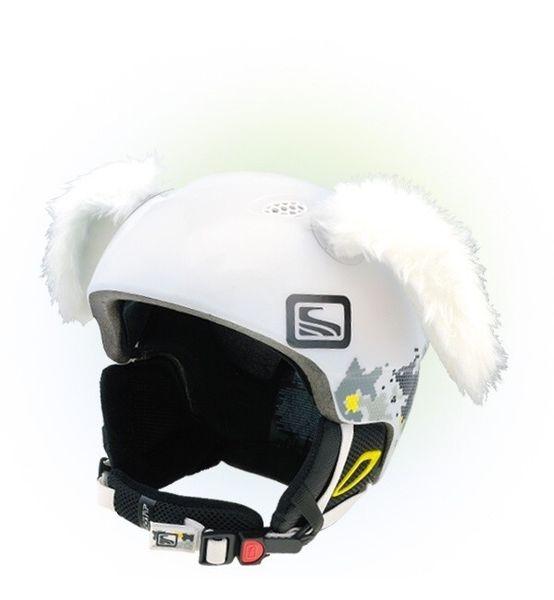 Crazy Uši na helmu králík bílý bílá
