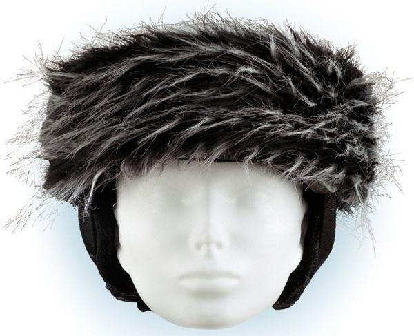 Crazy Uši Čelenky na helmu černo-bílá...