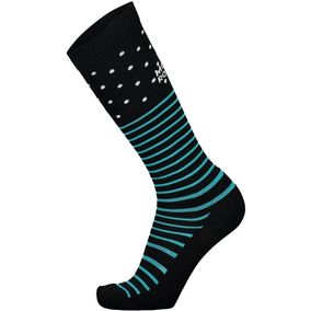 Mons Royale Lift Access Sock black/white/tropicana
