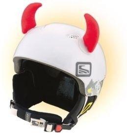 Crazy Uši na helmu růžky červené