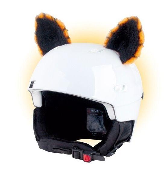 Crazy Uši na helmu kočka oranžová oranžová