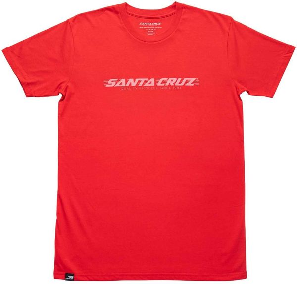 SANTA CRUZ triko WARDEN TEE 2.0 red