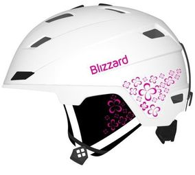 Blizzard Viva Double white matt/magenta flowers