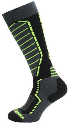 Blizzard Profi Ski Socks N black/anthracite/signal yellow