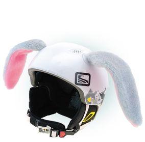 Crazy Uši na helmu králík velký šedo-růžová...