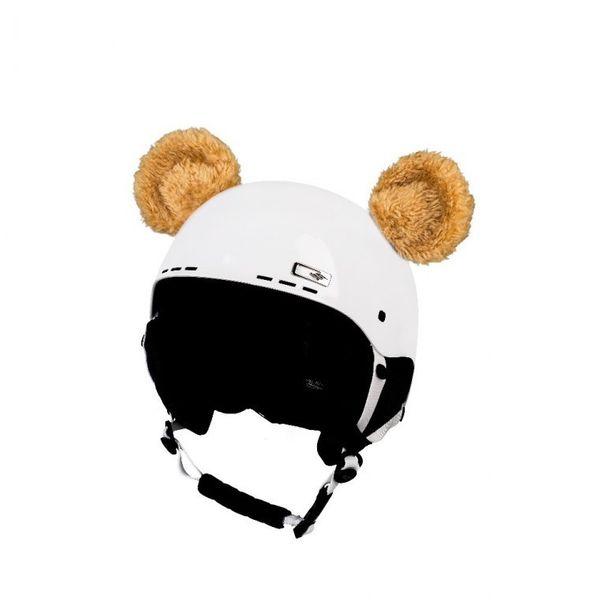 Crazy Uši na helmu medvídek žlutý sz