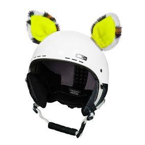 Crazy Uši na helmu kočka neon žlutá sz
