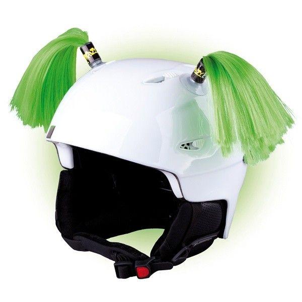 Crazy Uši na helmu culíky zelené