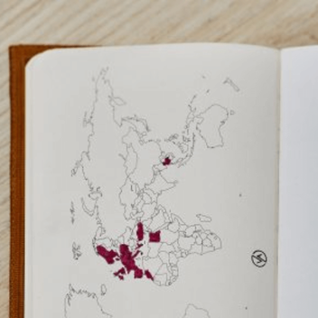 Cestovatelský deník čistý sešit
