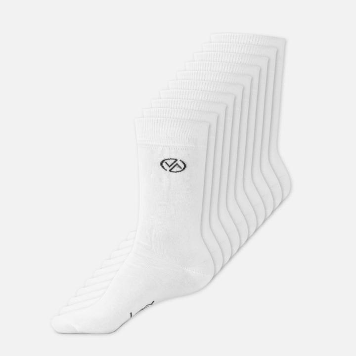 10 x Ponožky Vysoké Bílé