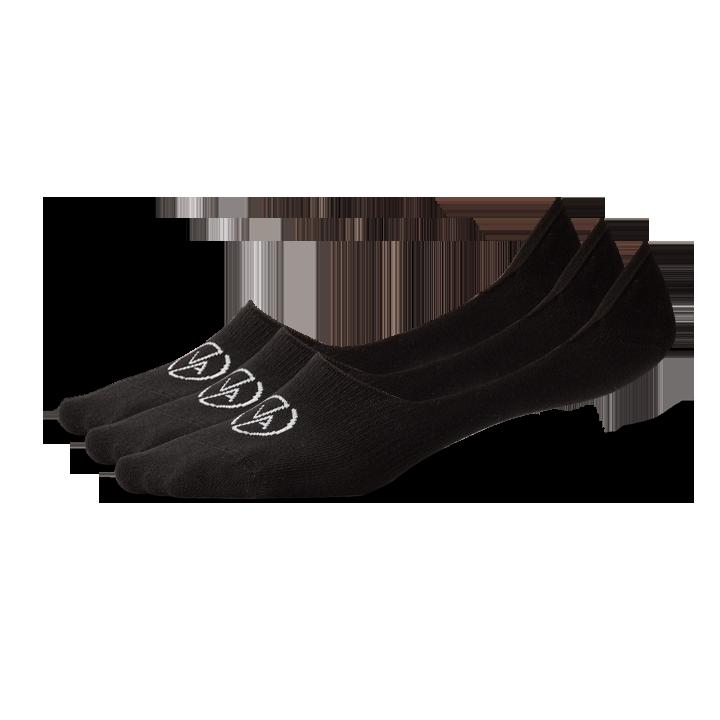 3x Ponožky Neviditeľné Black